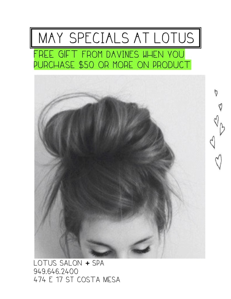 MAY SPECIALS AT LOTUS