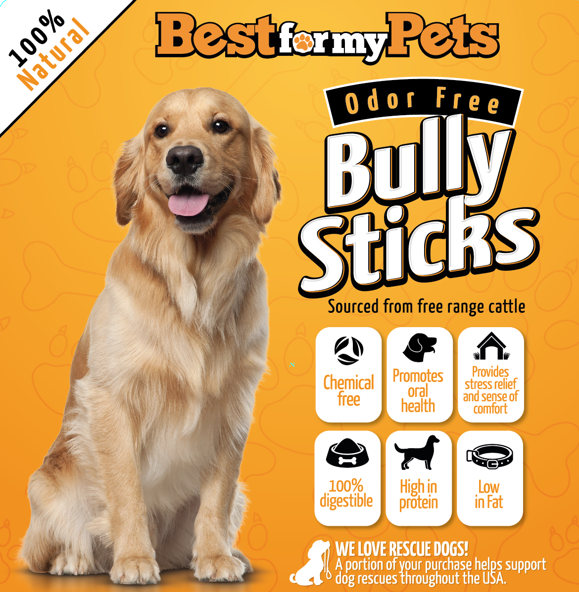 best for my pets odor free bully sticks. Black Bedroom Furniture Sets. Home Design Ideas