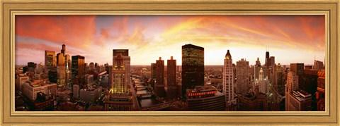 sunset-skyline-chicago-il-usa-framed-art-print