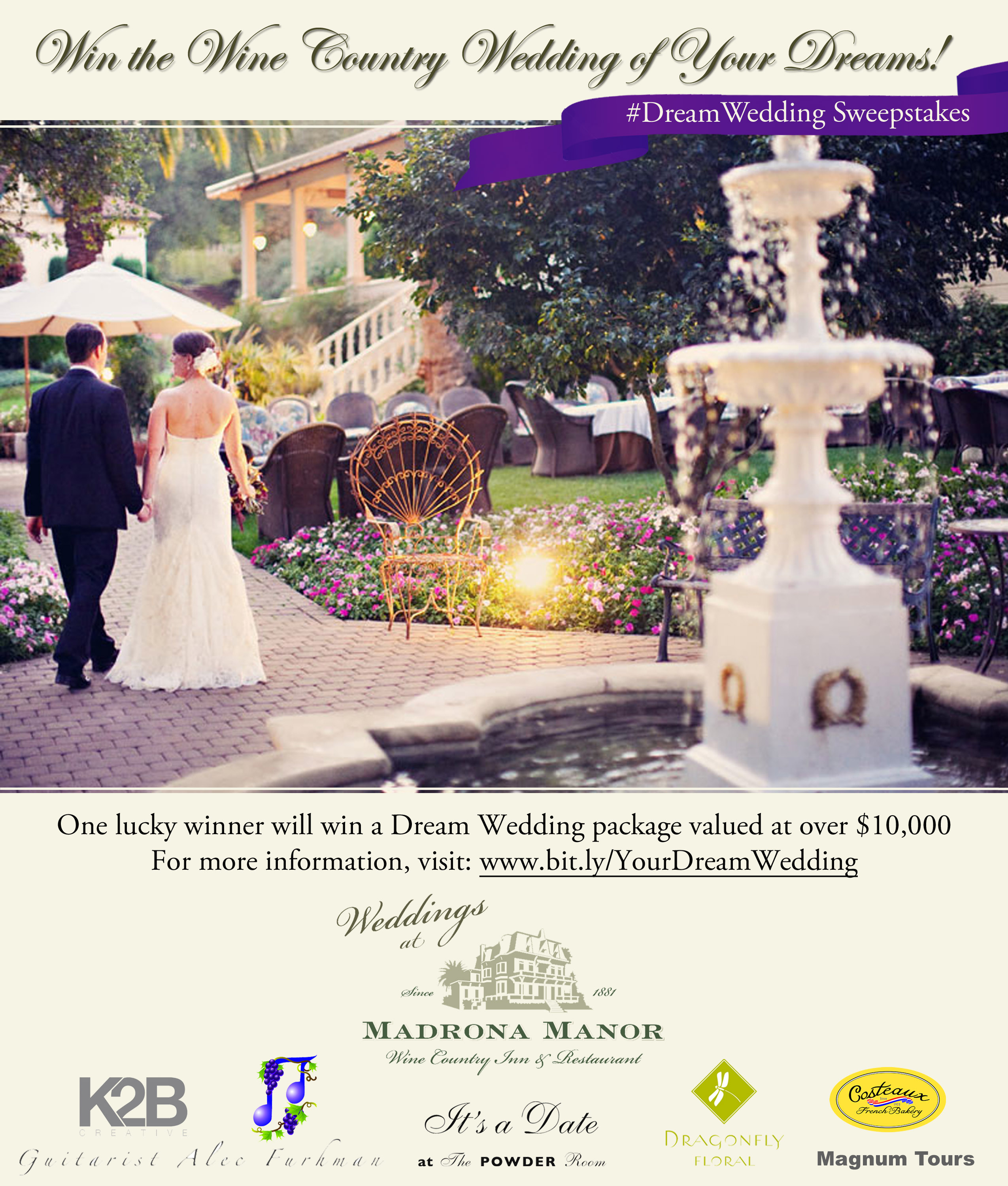 madrona manors dream wedding sweepstakes