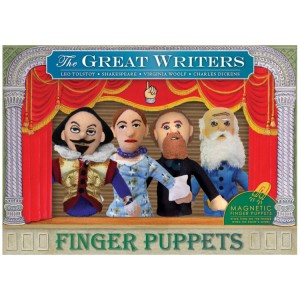 Great Writers Finger Puppet Magnet Set