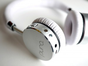 Puro Sound Labs - BT2200 Kids Wireless Headphones -white on white closeup