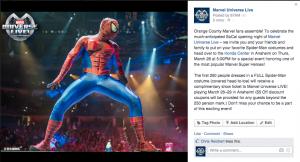 Spider-Man LA Geo Post