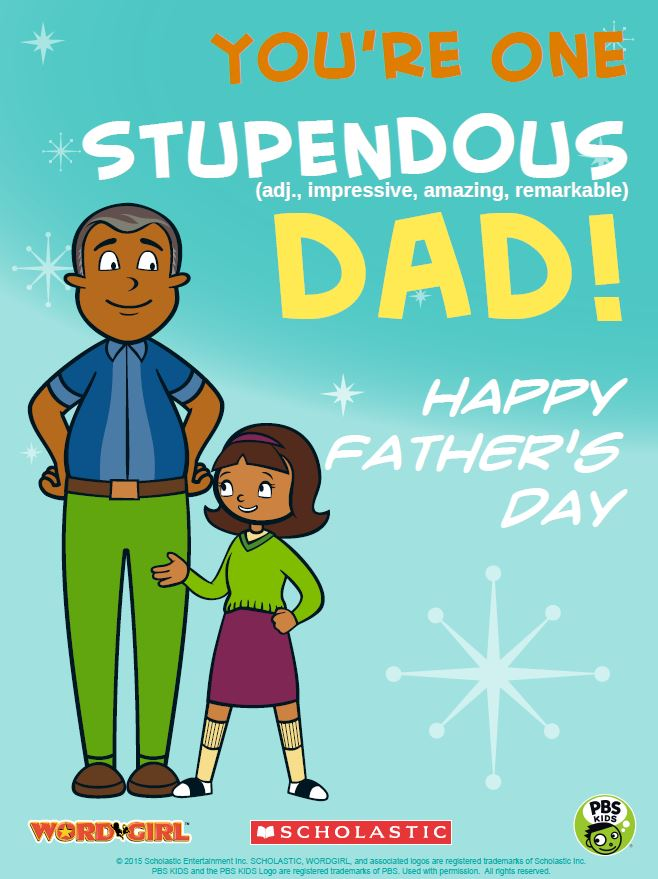 WordGirl Father's Day Card