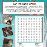 WordGirl July 4th Word Search
