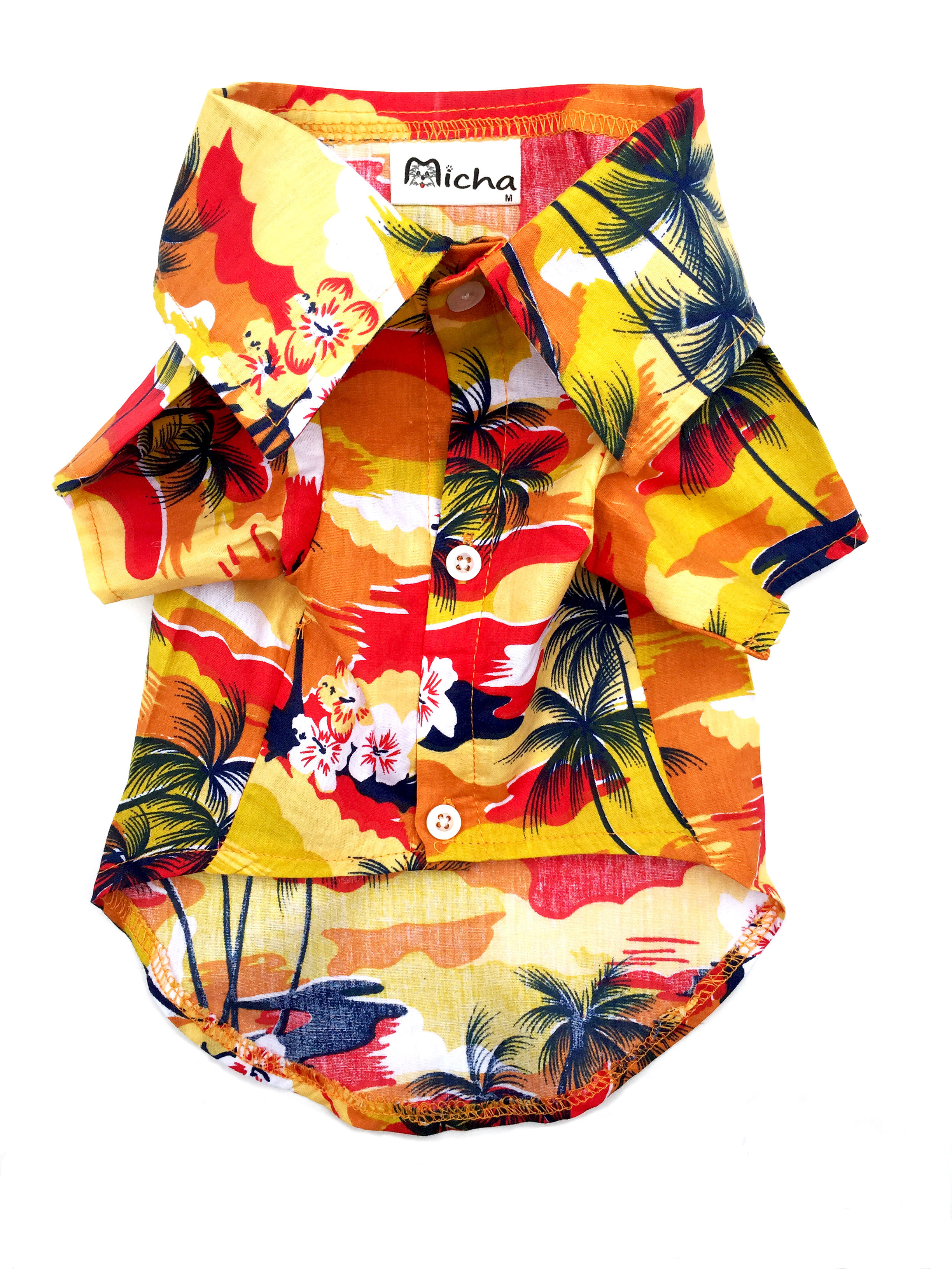 Hawaiian Shirts for Small and Medium Sized Dogs from Micha Doggy Wear