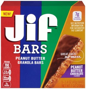 Jif Bars Peanut Butter Chocolate