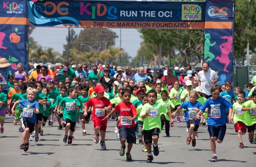 Online registration for Kids Run the OC on May 5th