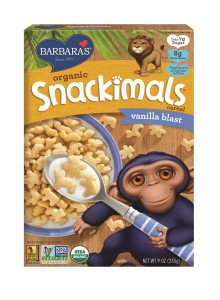 Barbara's Organic Snackimals Cereal - Vanilla Blast