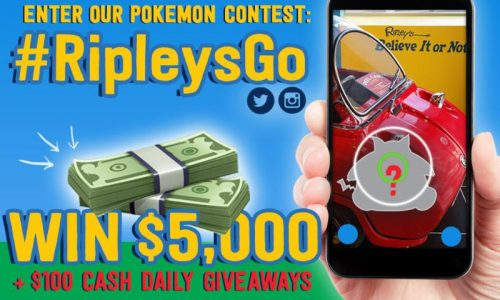 Ripley&#8217;s Believe It or Not! Holds #RipleysGo Contest for Pokémon GO Players <small class=