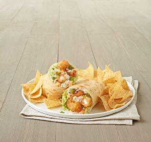 Panko Crusted Crispy Shrimp Burrito