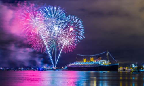 The Queen Mary Hosts SoCal's Top Fireworks Display for All-American 4th of July Celebration <small class=