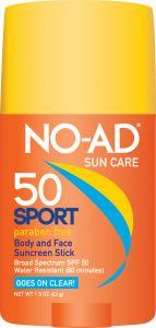 NO-AD Sport Sun Care SPF 50 Body and Face Stick
