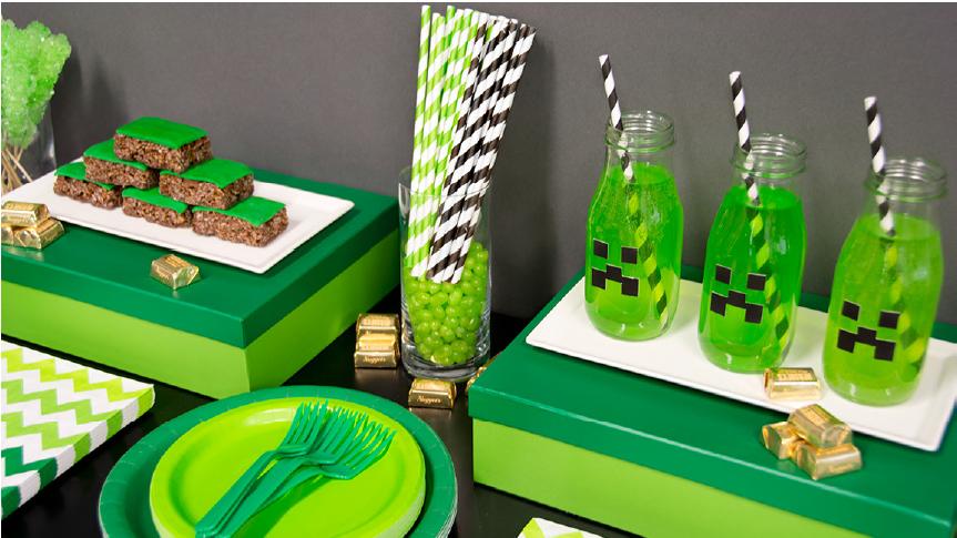 Minecraft makes an amazing DIY birthday theme!