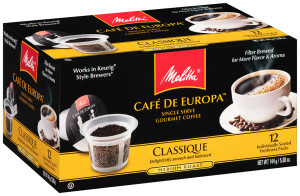 Melitta Café de Europa™ Single Serve Gourmet Coffee (box)