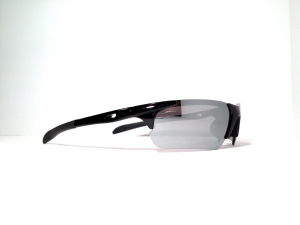 13606 black with silver mirror lenses