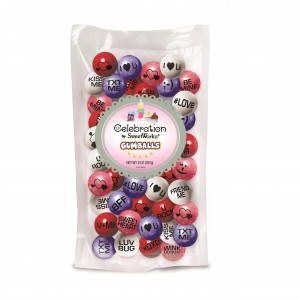 75071 - Celebration by SweetWorks Conversation Gumballs_8oz. Stand-Up Bag