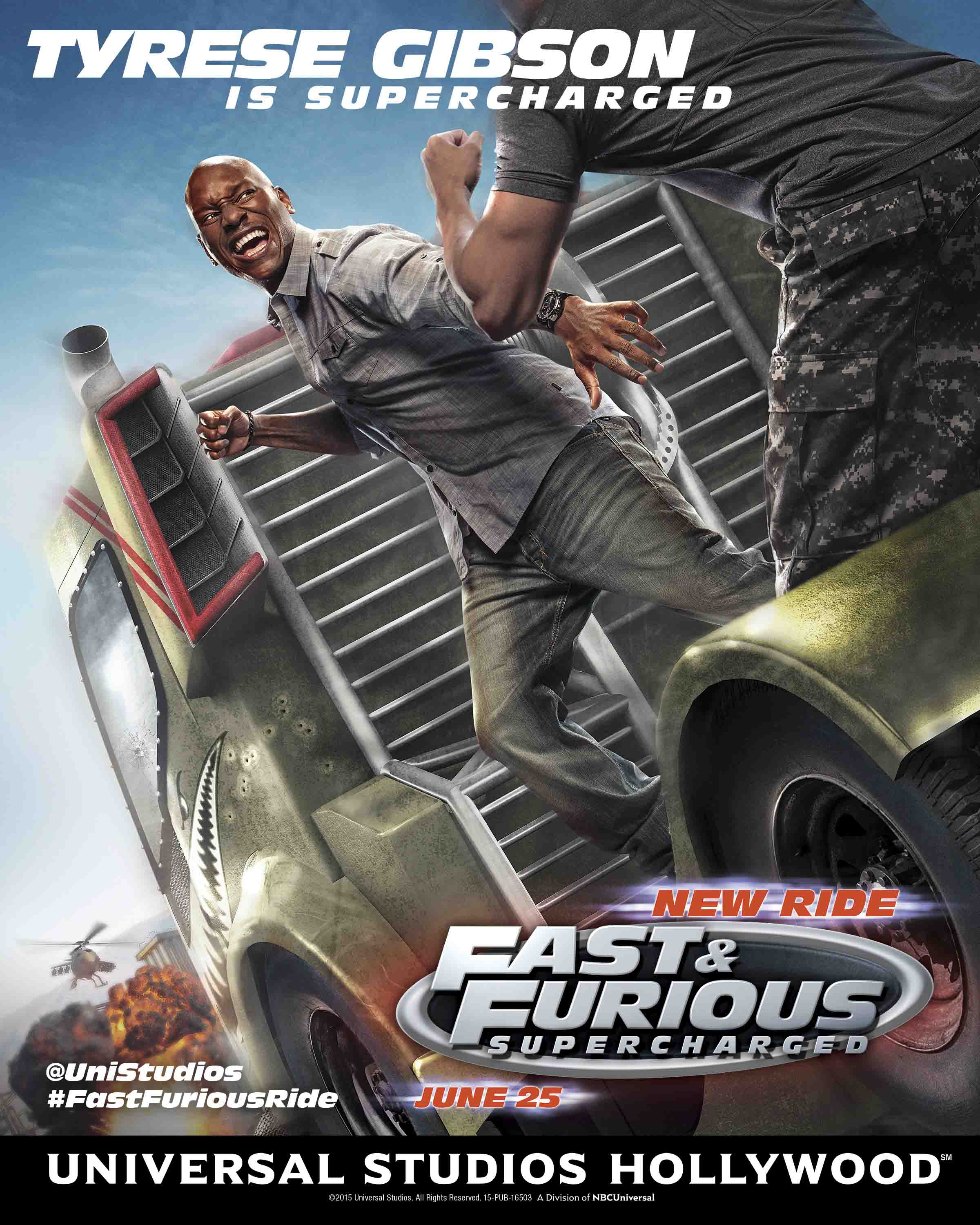 Fast Furious Supercharged Tyrese Poster Art