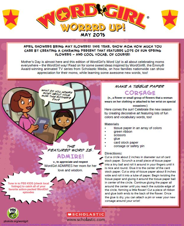 WordGirl May Newsletter