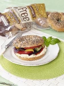 BFree Multiseed Bagel Hummus Sandwich