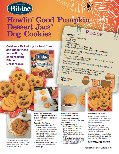 Howlin Good Pumpkin Dessert Jacs Dog Cookies