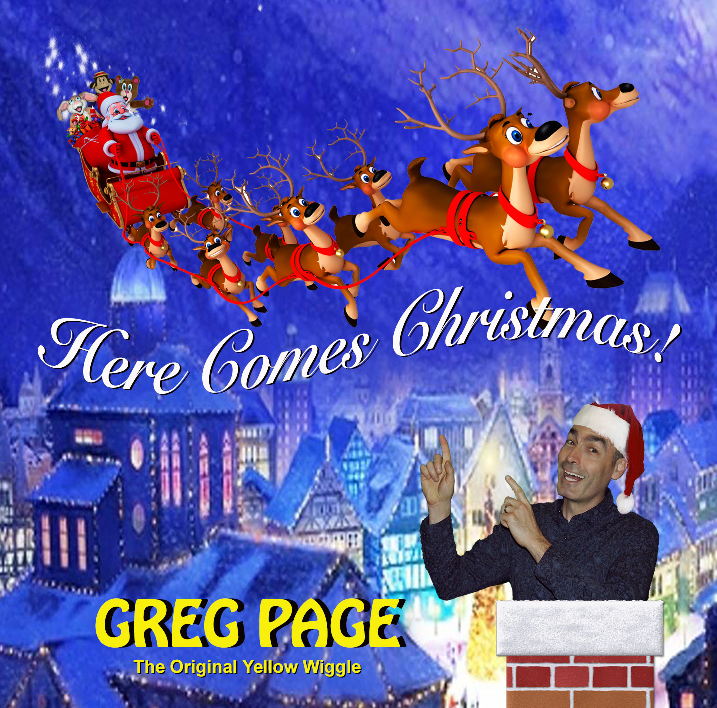 Christmas Album Cover Art.Here Comes Christmas From The Original Yellow Wiggle Greg Page