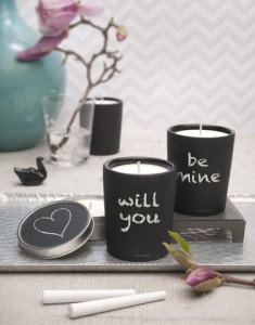 Mine Design Chalkboard Candle 1
