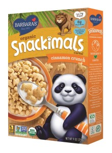 Barbara's Organic Snackimals Cereal - Cinnamon Crunch