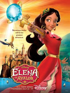 "ELENA OF AVALOR - ""Elena of Avalor"" is an animated series that follows the story of Elena, a brave and adventurous teenager who saves her kingdom from an evil sorceress and must now learn to rule as crown princess until she is old enough to be queen. The series premieres this summer on Disney Channel. (Disney Channel)"