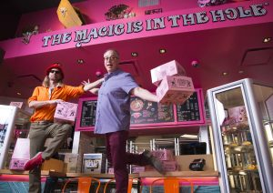 Founders Tres Shannon & Kenneth (Cat Daddy) Pogson at Voodoo Doughnut at Universal CityWalk
