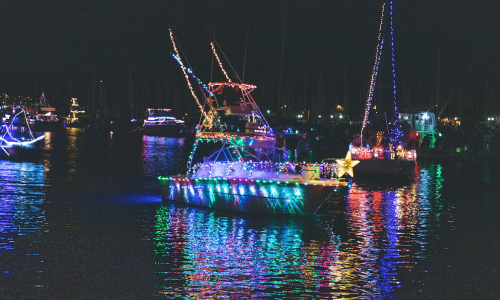 "Dana Point Harbor Presents ""Tiki Holiday"" at the 45th Annual Boat Parade of Lights"